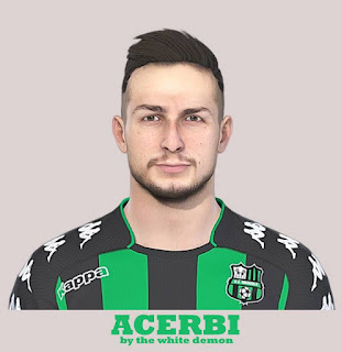 PES 2019 Faces Francesco Acerbi by The White Demon