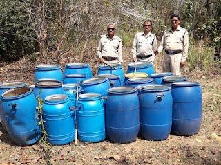 बालाघाट में अवैध शराब व लाहन जप्त