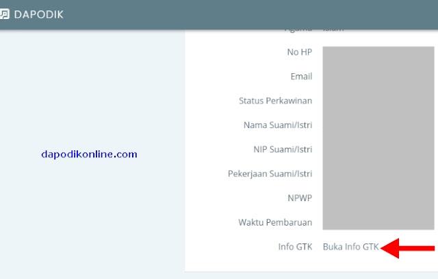 Klik menu Buka Info GTK