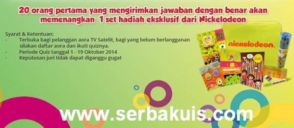 Kuis Berhadiah Merchandise Ekslusif dari Nickelodeon