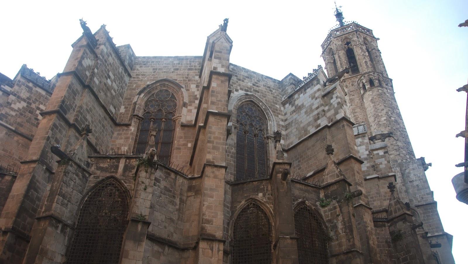 Contrafuertes del ábside de la Catedral de Barcelona