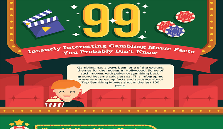 99 Insanely Interesting Gambling Movie Facts #infographic