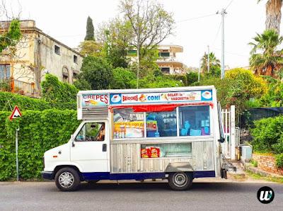 food truck, Aci Castello | Sicily, Italy | wayamaya