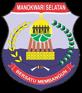 logo manokwari selatan, manokwari selatan