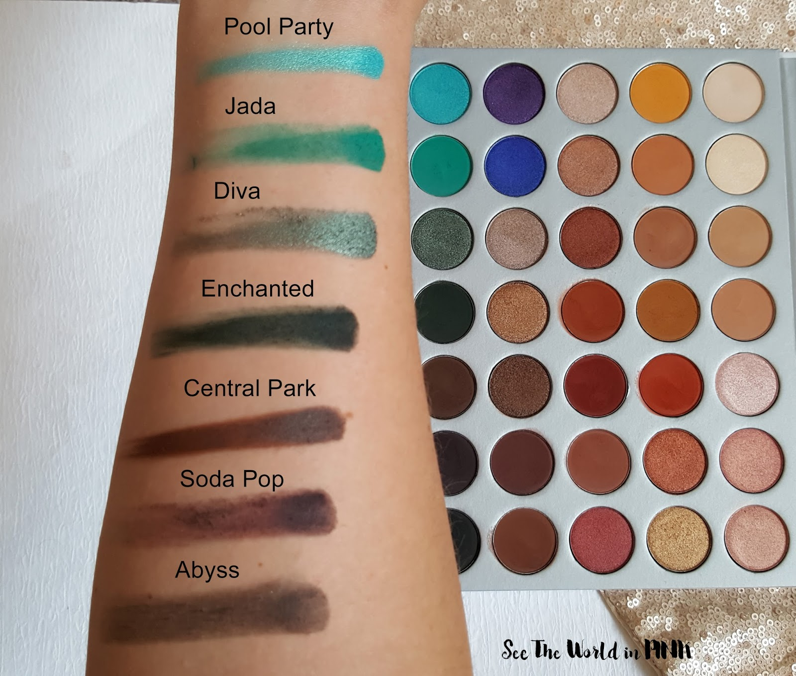 "Morphe x Jaclyn Hill ""The Jaclyn Hill Palette"" - Swatches, First Impressions, and Thoughts"