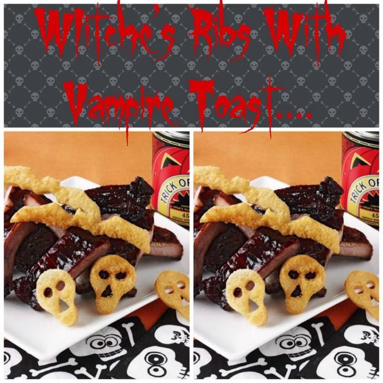 WIitche's Ribs With Vampire Toast: Fun Halloween Ideas