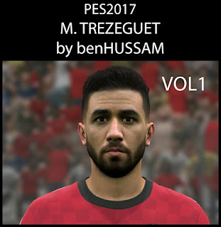 PES 2017 Faces Mahomud Trezeguet by BenHussam