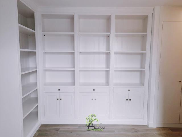 Estantería, librería y mueble a medida lacado
