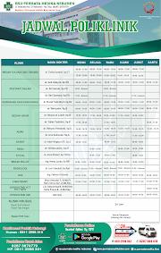 Jadwal Poliklinik RSU Permata Medika Kebumen