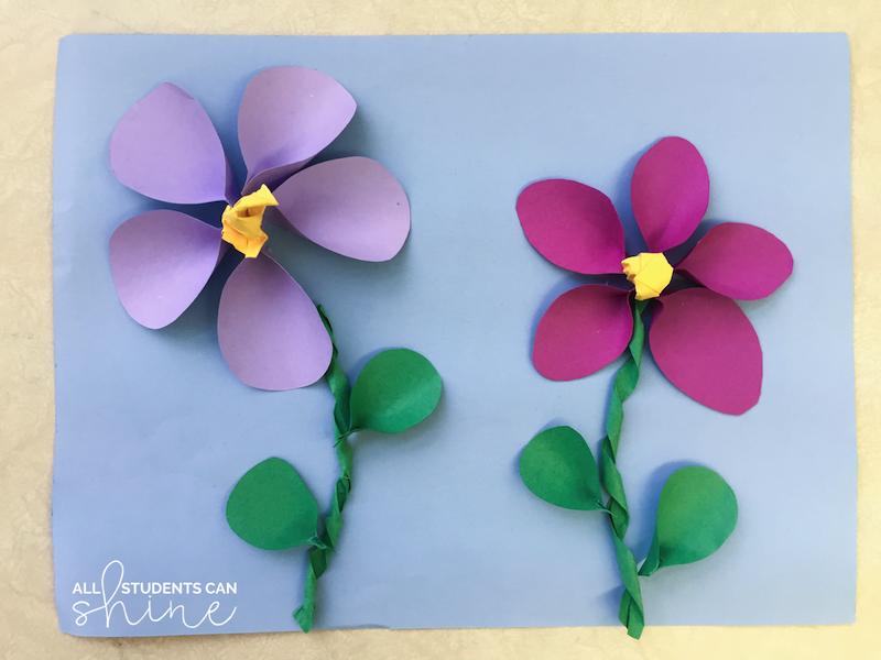 plants art project idea