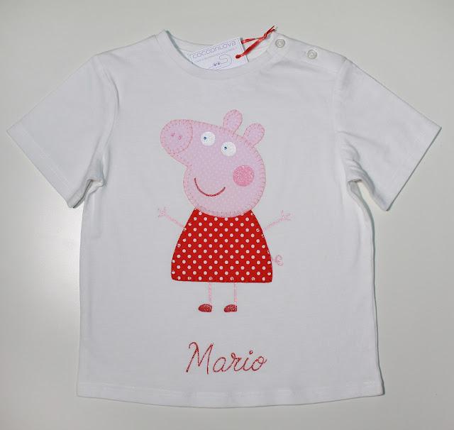 camiseta de cumpleaños peppa pig hermanos