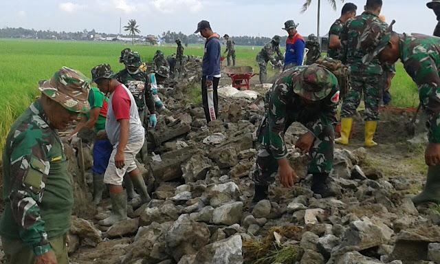 Dansatgas TMMD Ke 105 KODIM 1404/Pinrang Terjun Langsung di Lokasi