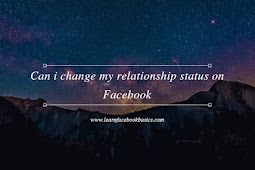 Can i change my relationship status on Facebook