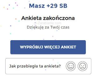 SwagBucks, ankieta zakończona.