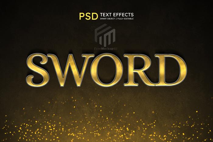 Sword Editable Text Style Effect Psd Template