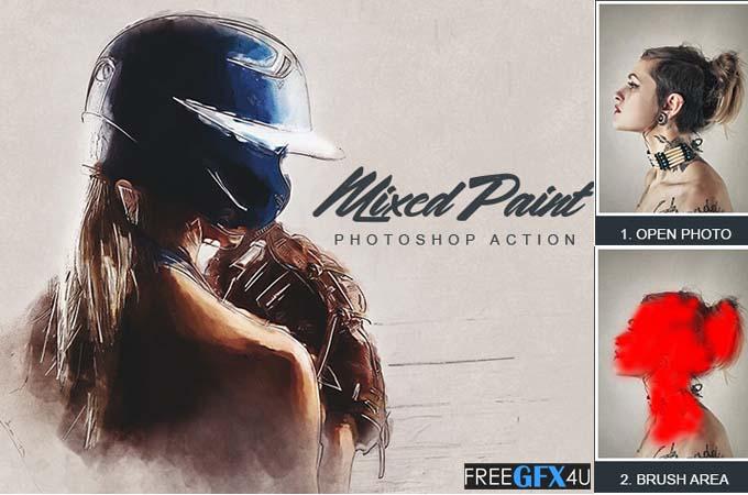 MixedPaint  Photoshop Action