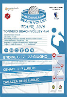 Locandina VALCAVALLINA BEACH VOLLEY TOUR 2019