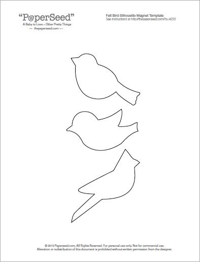 my craft notebook : kuş şablonu---bird template