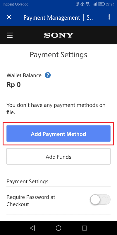 pilih add payment method