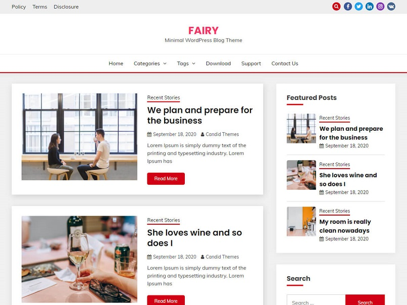 Fairy theme for affiliate marketing