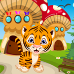 Play Games4King Tiger Cub Rescue