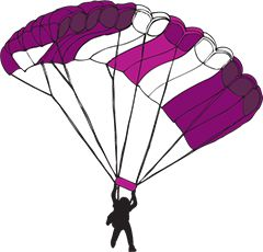 Skydiver, cartoon,