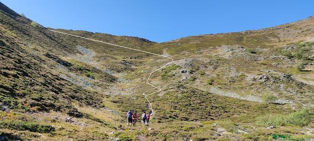 Marca del sendero que llega al Collado de Fanetina