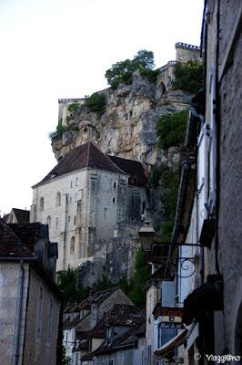 Colpo d'occhio su Rocamadour dal centro paese