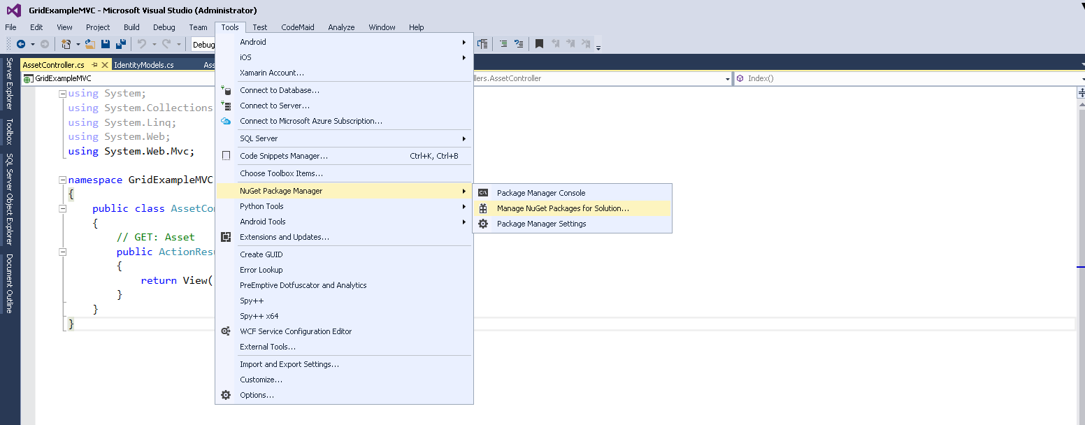 Beginners Guide for Creating GridView in ASP NET MVC 5 - CodeProject