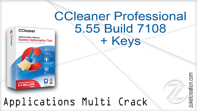 CCleaner Professional 5.55 Build 7108 + Key