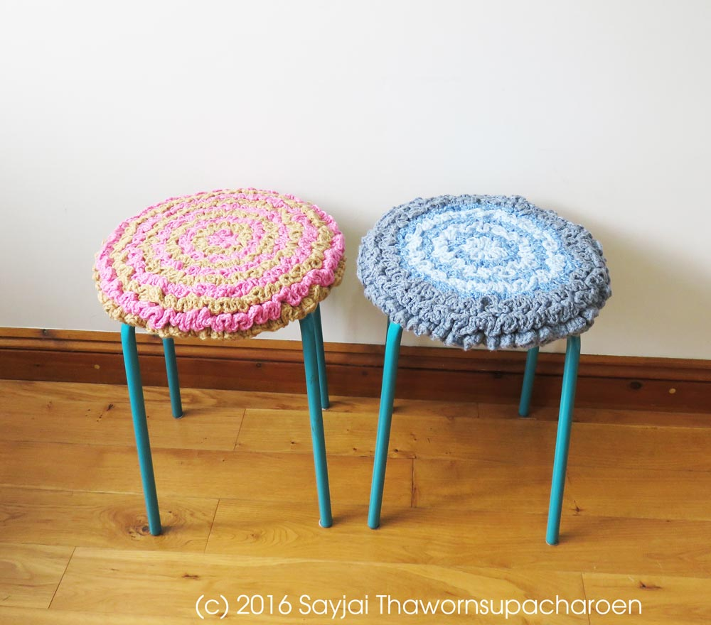 Seat Pads and a Pet Bed from recycled yarn - Sayjai Amigurumi ...