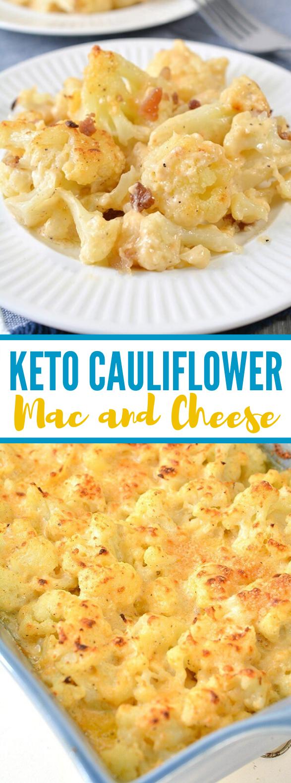 KETO CAULIFLOWER MAC AND CHEESE #healthy #lowcarb
