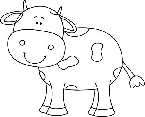 Hình tập tô màu con bò dễ thương