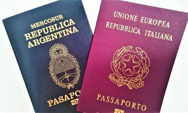 Pasaporte italiano y argentino