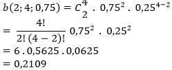 Pengertian binomial, asumsi, jenis data, rumus, contoh soal