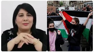 عبير موسي تنظم وقفة تضامنيةكبيرة مع الشعب الفلسطيني .