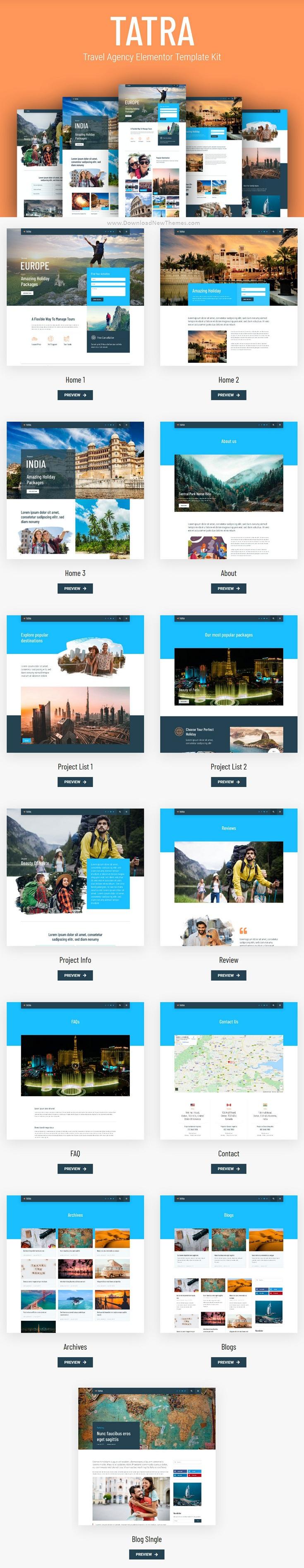 Travel Agency Elementor Template Kit