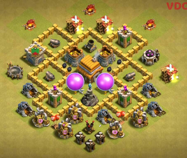 Base COC TH5 War 6
