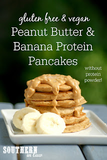 Vegan Peanut Butter and Banana Protein Pancakes Recipe without Protein Powder
