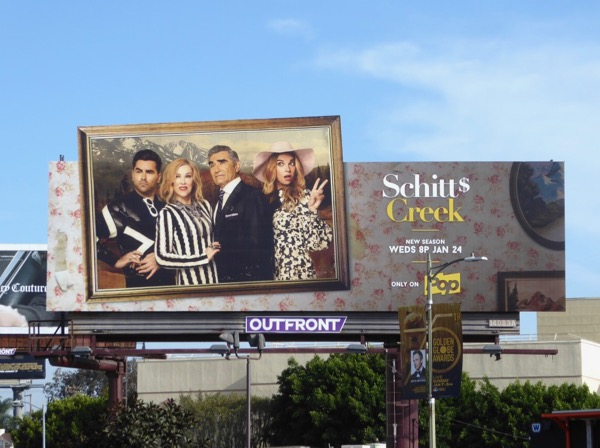 Schitt's Creek season 4 billboard