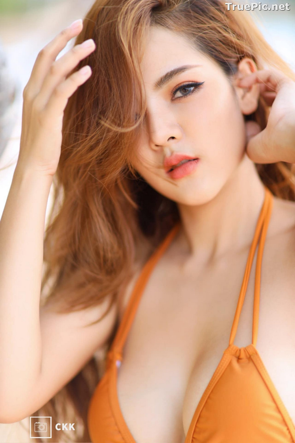 Image Thailand Model - Montakan Kaengraeng - Sexy Orange Bikini - TruePic.net - Picture-3
