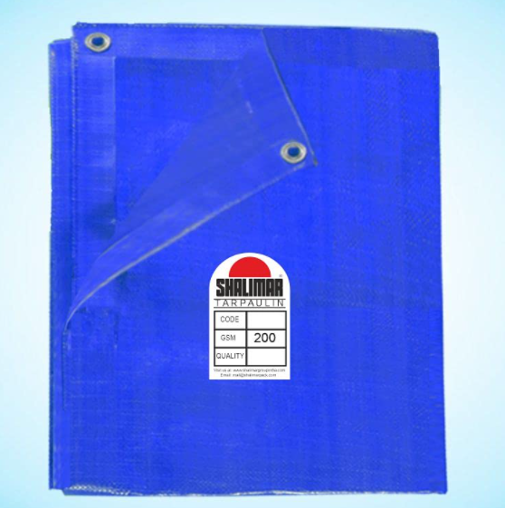 Shalimar Gold Virgin HDPE Tarpaulin 200 GSM Blue Size (18ft x 30ft) Approx. (Size Includes Reinforced Edges on All Four Sides for Extra Strength)