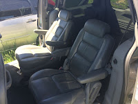Our prize - a leather seat with 2 arm rests