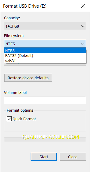 Định dạng Fat32, NTFS, exFAT là gì?  Ưu nhược điểm ra sao?