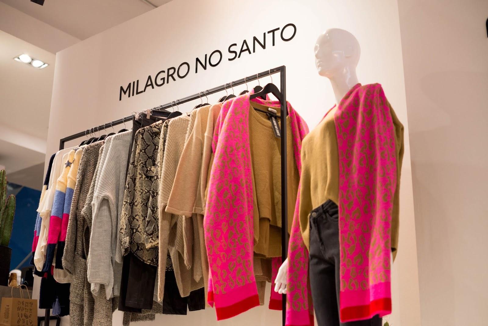 Perchero de marca Milagro No Santo en Concept Store moda chilena en Tiendas Paris Alto Las Condes
