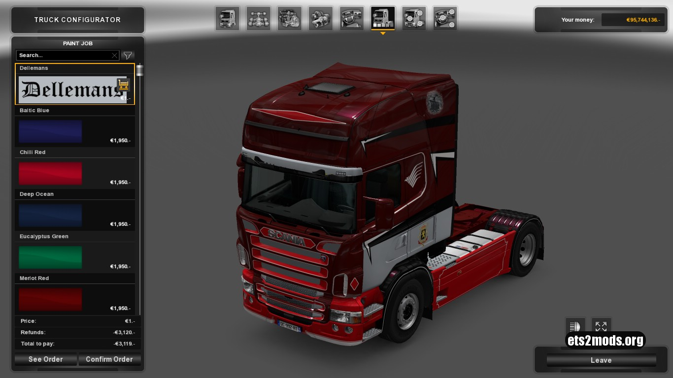 Dellemans Skin for Scania RJL