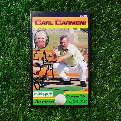 Carl Carmoni Mini-putt Trading Card 2016