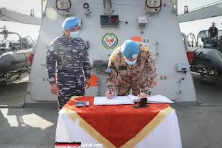 Rear Adminal Axel Schulz MTF Commander Kunjungi KRI Sultan Hasanuddin-366
