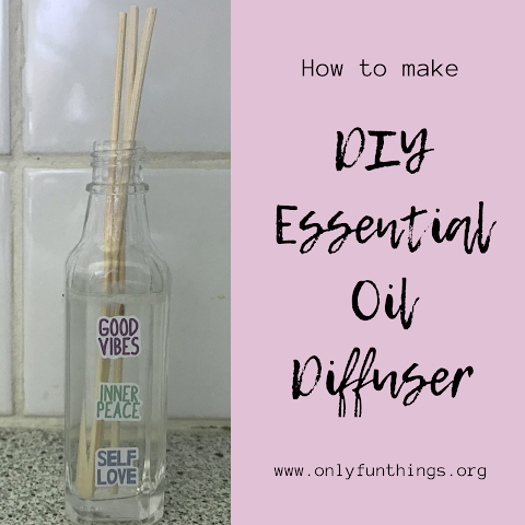 How to Make DIY Essential Oil Diffuser (BONUS- PRINTABLE COLORING PAGE!)