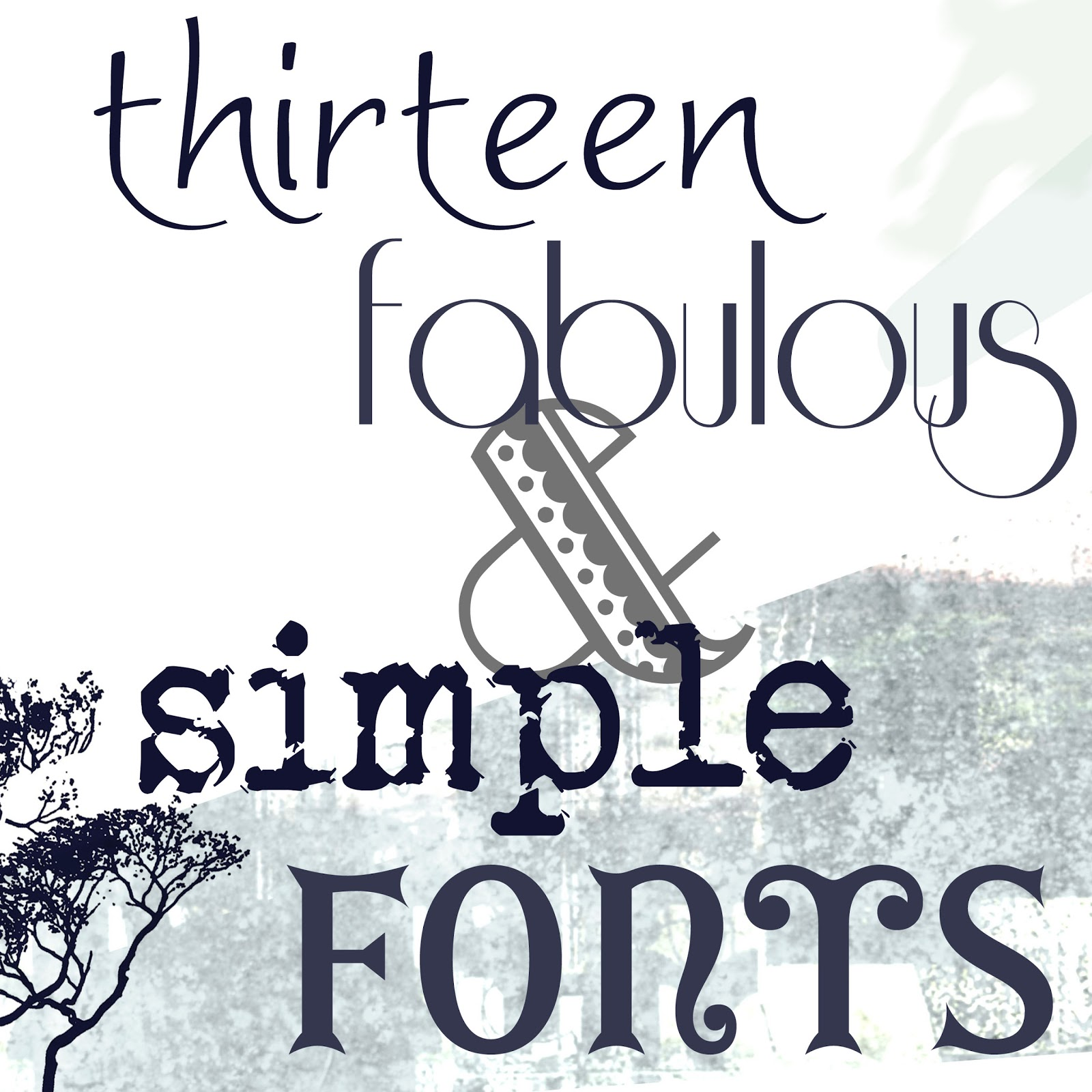 MD School Mrs.: Fabulous Fonts: Simple